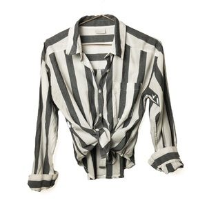 ABOUND Striped Collared Button Down Shirt